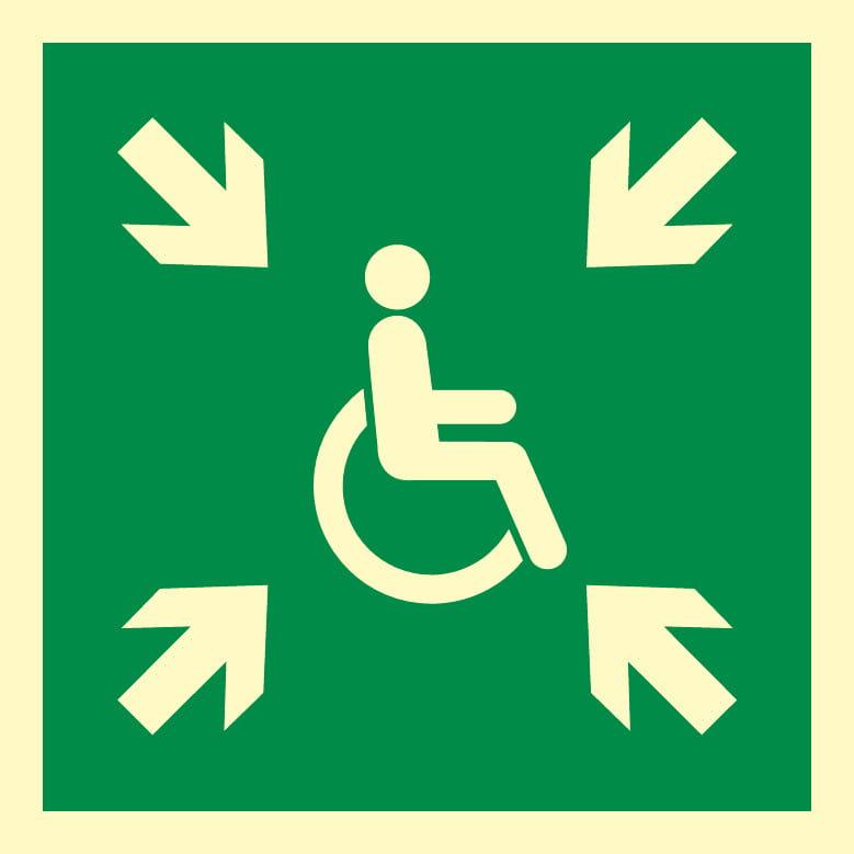 Miejsce zbiórki do ewakuacji osób niepełnosprawnych