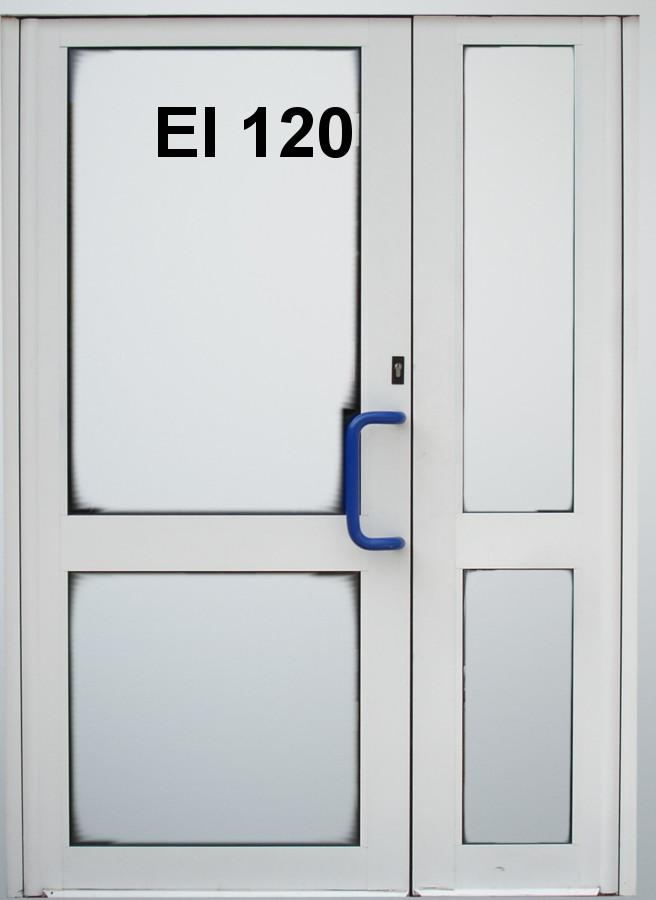 Inteligentny Dwuskrzydłowe drzwi aluminiowe - Sklep PPOŻ CU71